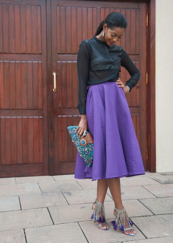 Purple Volume skirt