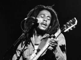 """BOB MARLEY: Suffering from cancer, but true to his rastafarian beliefs and refusing western medicine right till the end, reggae icon Bob Marley told his son Ziggy, """"Money can't buy life,"""" just moments before he died."""