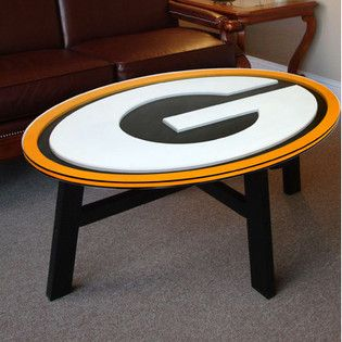 14 best images about man cave ideas on pinterest for Football coffee table