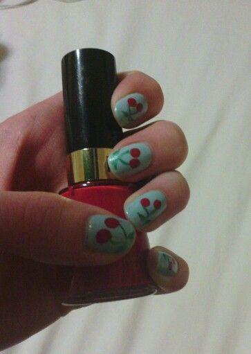 Cherry nails :)