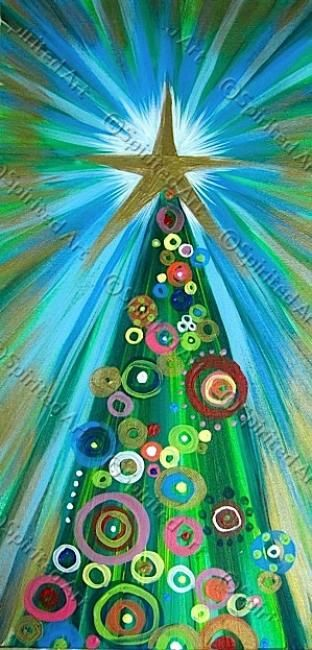 17 best images about christmas canvas on pinterest for Christmas paintings easy