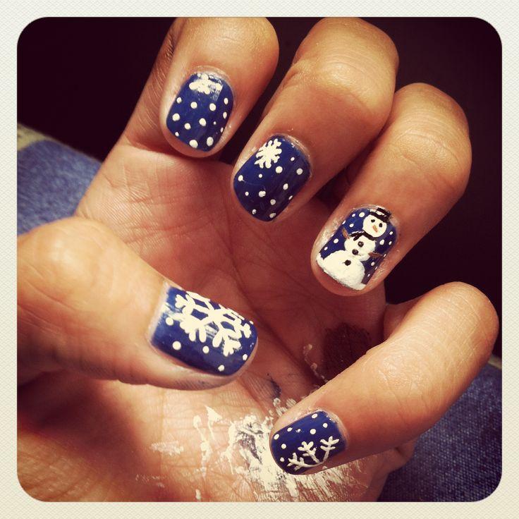 Merry Christmas!! La nieve se apodero de mis uñas juju #Nails