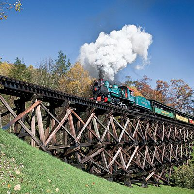 Tweetsie Railroad an small amusement park in Blowing Rock, NC so many things to do there