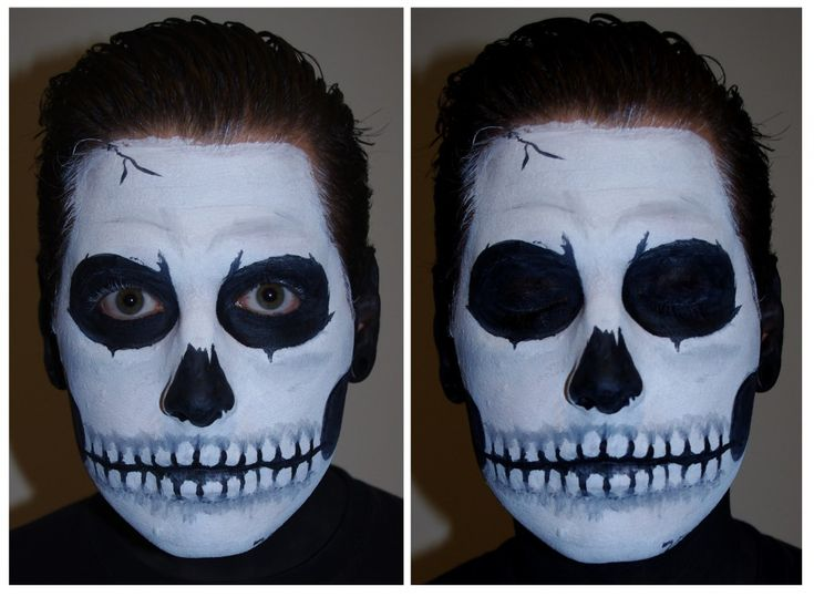 halloween skull face paint makeup tutorial - Halloween Skull Face Paint Ideas