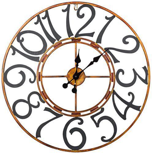 "Cooper Classics La Salle Wall Clock Cooper Classics 25"" diameter http://www.amazon.com/dp/B009XN5DDO/ref=cm_sw_r_pi_dp_7N4Qtb1AVJ6T5J62"