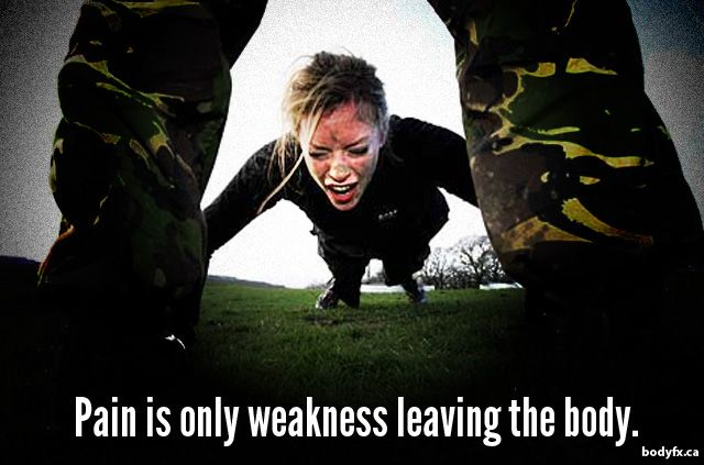 Motivation: Pain Is Only Weakness Leaving The Body