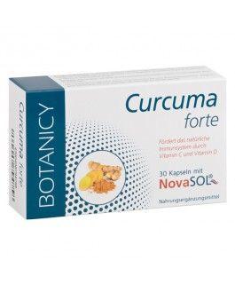 """""""Curcuma Forte"""" von BOTANICY enthält das neuartige, patentierte flüssige Curcumin von NovaSol® und unterstützt den Körper effektiver denn je, Entzündungen zu bekämpfen. Das flüssige Curcumin wird im Vergleich zu herkömmlichen Kurkuma-Kapseln nachweislich (!!!) 185-mal besser und schneller vom Körper aufgenommen und ist ein kraftvolles Antioxidant."""