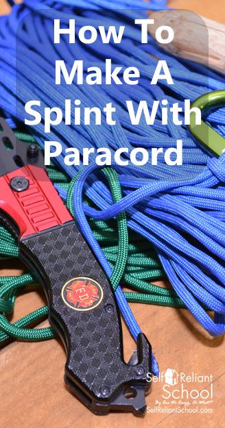 Do you have a paracord bracelet? Do you wear for emergencies, or just because it looks cool? Here I'll teach you how to use it to splint a broken limb. #beselfreliant