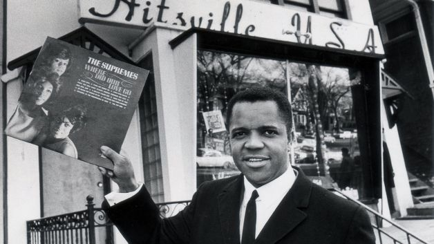 """Berry Gordy standing in front of his """"Hitsville"""" Motown studios in the 60′s. Description from divasoulpassion.empowernetwork.com. I searched for this on bing.com/images"""