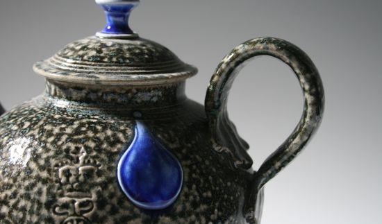 Steve Harrison. Salt glazed ceramic teapot.