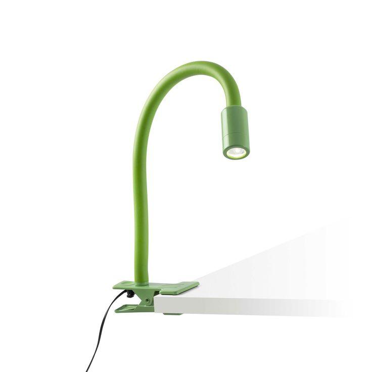 Comprar Lámpara de pinza flexible verde con LED | Comprar lámparas de iluminar cuadros con LED | Lámparas e iluminación #lamparas #interiorismo #decoracion #diseño #arquitectura #iluminacion #lamparaspinza