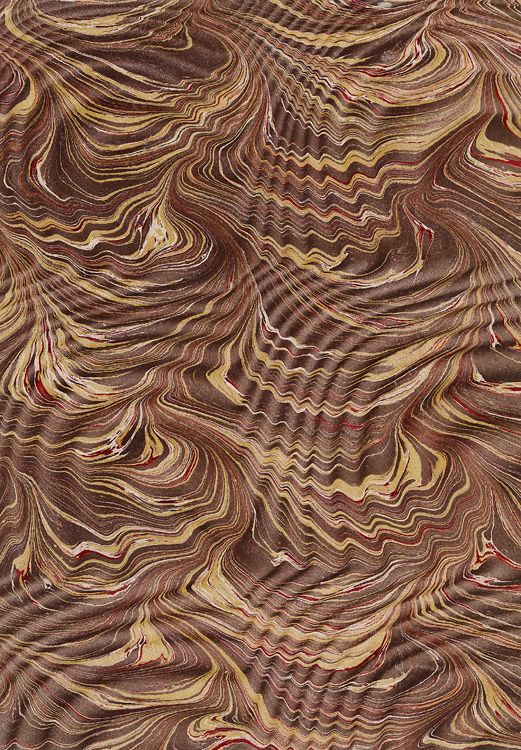 Marbled paper - Spanish Moiré pattern on stylus-patterned base