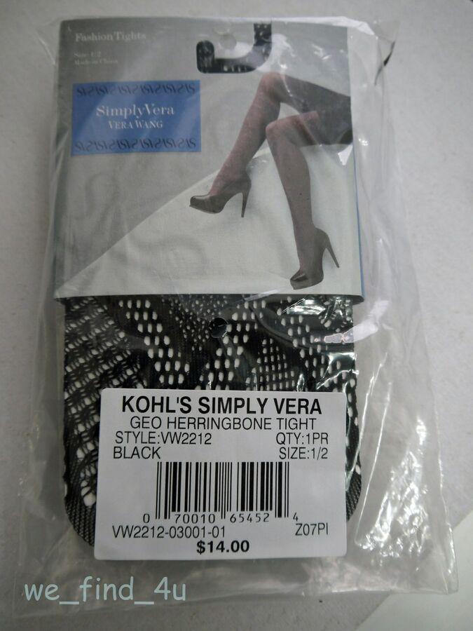 bbe9a3d17d8b1 Simply Vera Wang GEO Herringbone Tights Black Sz 1/2 Hosiery MSRP $14  70010654524 eBay#GEO#Herringbone#Tights | Womens Fashion Accessories in  2019 | Black ...