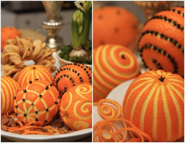 Oranges décorées sjarmerendejul