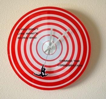 Mad Men Falling Man Quote Clock