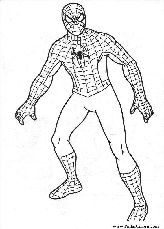 Imagini Pentru Spiderman De Colorat Desene Imagine Copii