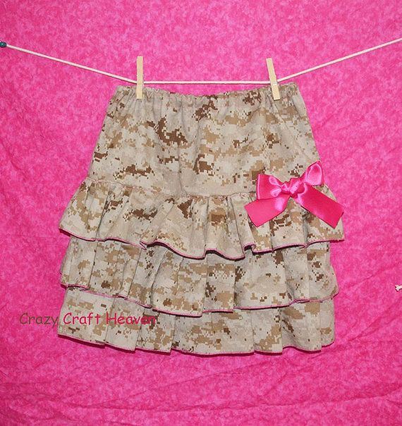 Girls military skirt Baby Military Skirt All by CrazyCraftHeaven, $30.00