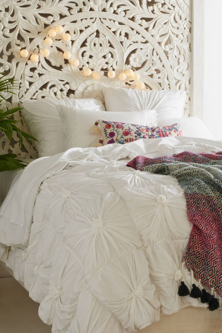 Organic Rosette Jersey Quilt in 2020 Bedroom decor