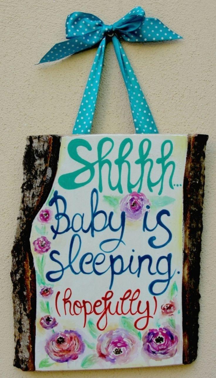 "Placuta+pentru+usa:+""Baby+is+sleeping"""
