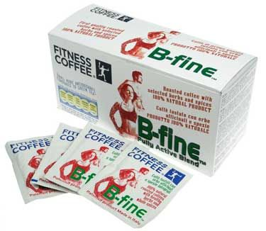 FITNESS COFFEE B-FINE COFFEE. Ground coffee with herbs and spices in single-dose sachets  This coffee increases thermogenesys and supports athletic performance, relieves physical and mental fatigue, stimulates mental activity, helps in weight loss diets, aids the immune system, provides powerful antioxidants against free radicals .