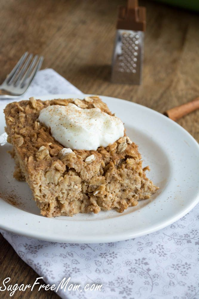 Refined Sugar-Free Baked Oatmeal Recipe, try blueberries or cranberries in it