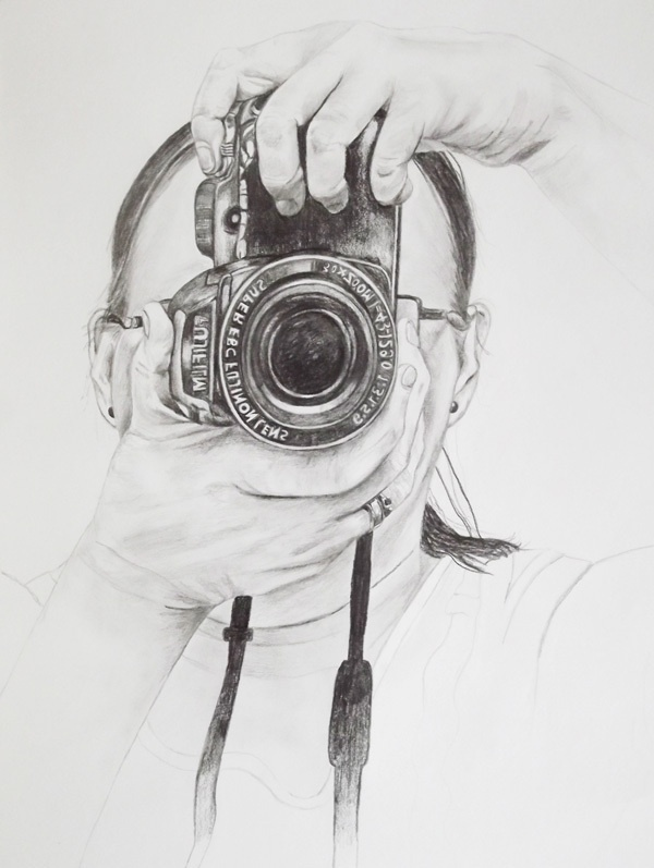 Self With Camera by Sarah Whittle, via Behance