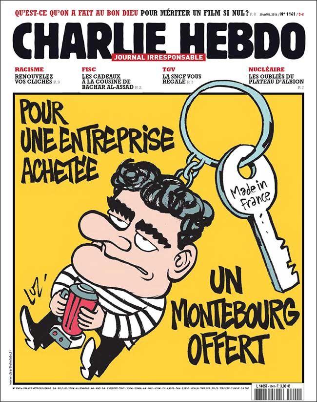 Charlie-Hebdo - semaine du 30 avril 2014 - Luz - #satire #France #gouvernement #Montebourg #gadget #économie #entreprises