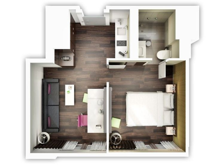 Creative One Bedroom House Plans That Promote Eco Friendly Environment  Apartment