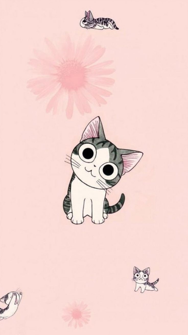 Wallpaper iphone cute cat - Wallpaper Iphone 6s Cartoon Google Search