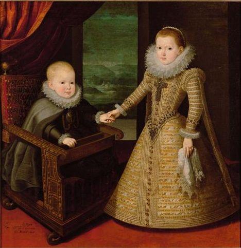 King Philip IV of Spain and Infanta Anna, later Queen of France, as children, 1607, by Juan Pantoja de la Cruz