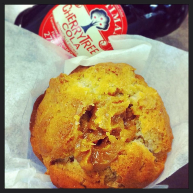 Cherry Cola Muffin full of Butterscotch!