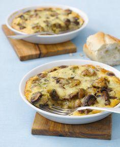 Rezept für Pilz-Ei-Auflauf bei Essen und Trinken. Ein Rezept für 2 Personen. Und weitere Rezepte in den Kategorien Eier, Gemüse, Käseprodukte, Milch   Milchprodukte, Pilze, Hauptspeise, Auflauf / Überbackenes, Gratinieren / Überbacken, Deutsch (regional), Einfach, Raffiniert, Vegeta