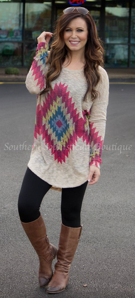 Out West Tunic / Southern Sophisticate Boutique