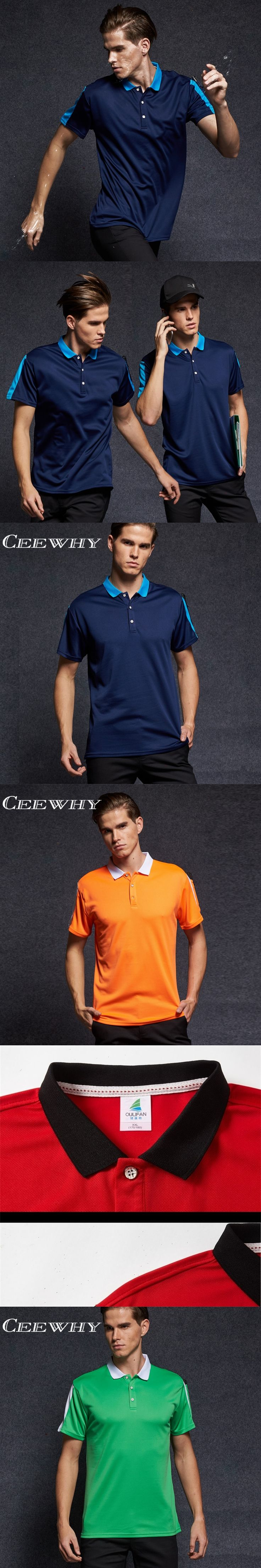 CEEWHY Summer Fashion Mens Brand Camisa Polo Shirt For Men Short Sleeve Shirt Polo Ralphmen Pol Shirt Polo with Pocket Plus Size