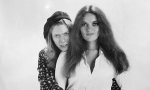 David Bowie with singer Dana Gillespie in 1971, the year Hunky Dory was released.