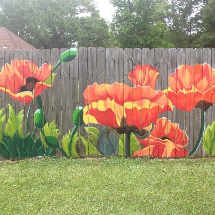 painted fence                                                                                                                                                     More