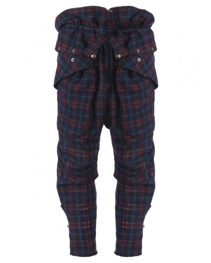 Faith Connexion Zip Detail Tartan Trousers Pants