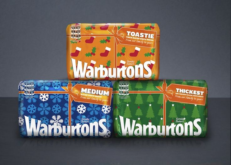 Great Christmas packaging for Warburton's this year. Christmas morning bacon sarnie anyone?