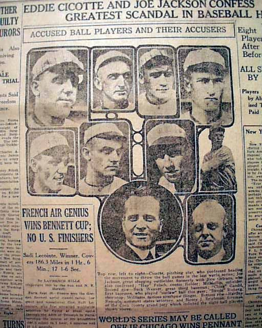 essays on the black sox scandal The black sox scandal is one of the most popular assignments among students' documents if you are stuck with writing or missing ideas, scroll down and find inspiration in the best samples.