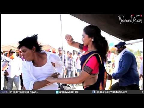 Deepika padukone gets violent with shahrukh khan and rohit shetty during chennai express shoot