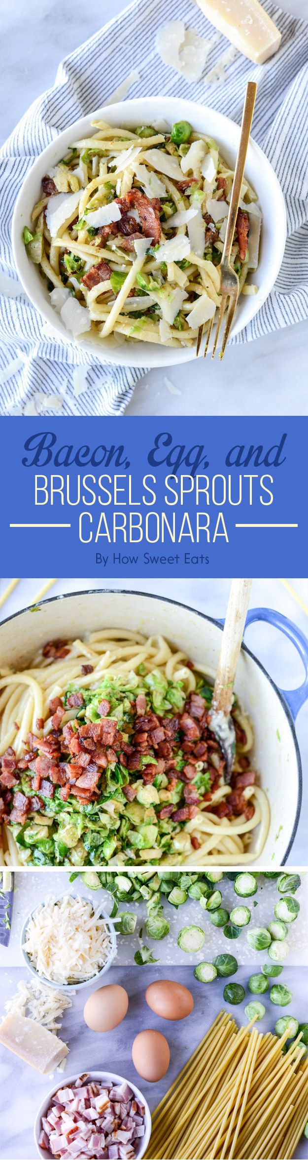 Bacon, Egg, and Brussels Sprouts Carbonara | Here's What You Should Eat For Dinner This Week
