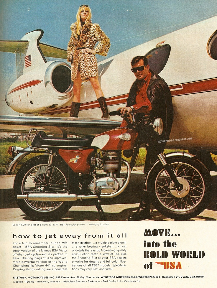 MotorParade: Vintage BSA advertisement | Cars, bikes etc ...