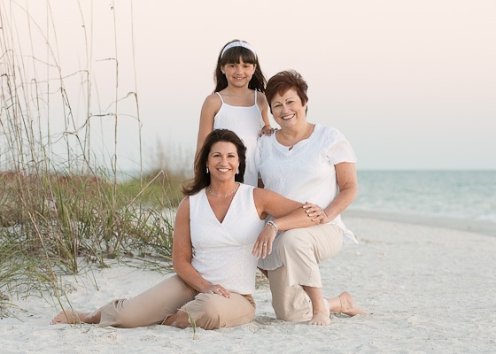 Beach Portrait Family Group With Creative Picture Ideas