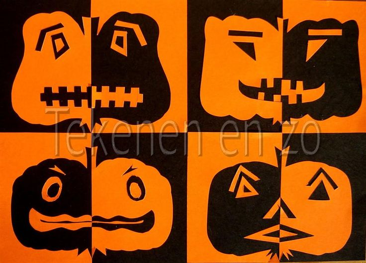 Benodigdheden: zwart knutselpapier op A4 formaat oranje knutselpaper half A4 liniaal potlood schaar plaksel snijmesje en snijmat