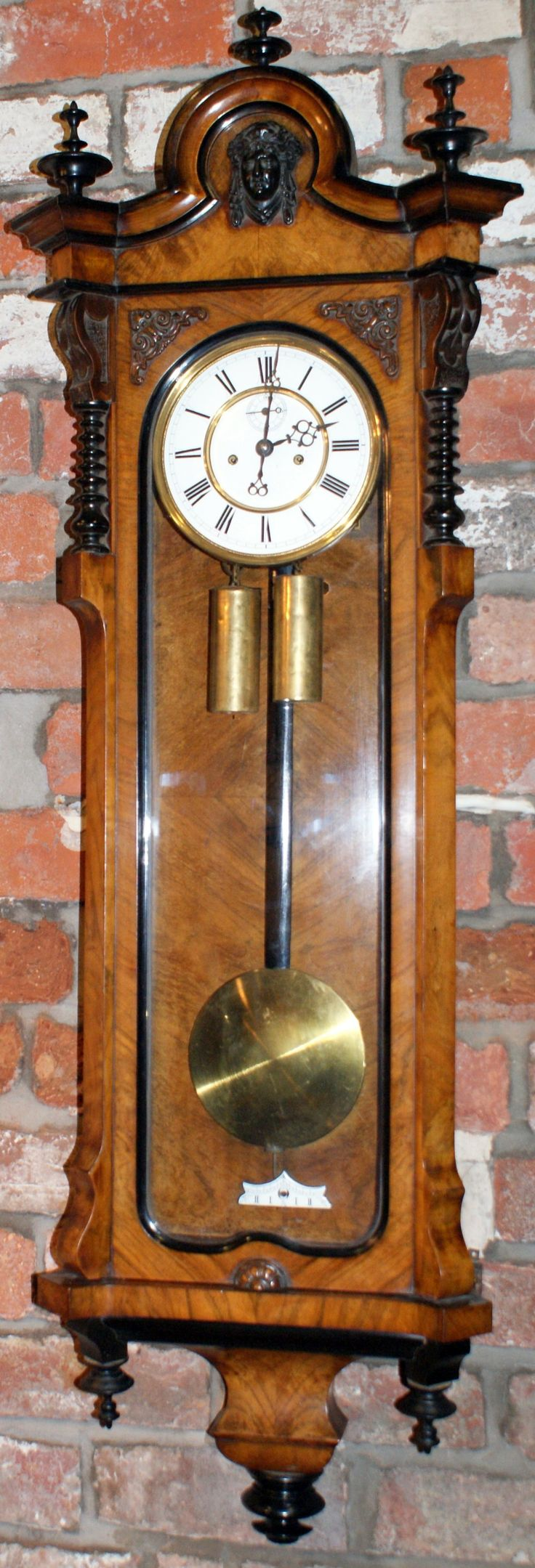 60 best vienna regulators images on pinterest wall clocks a late 19th century walnut cased weight driven vienna wall clock amipublicfo Images