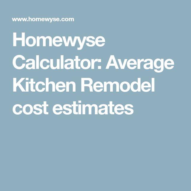 Best  Average Kitchen Remodel Cost Ideas On   Kitchen