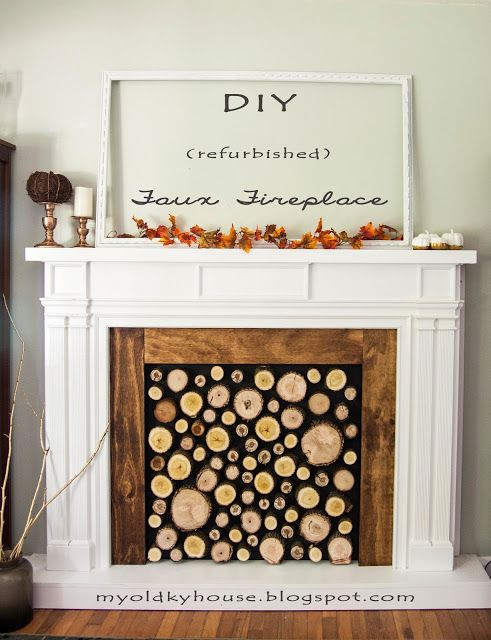 DIY refurbished Faux Fireplace: My Old Kentucky House Blog