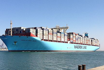 The world's biggest cargo container ships port in the largest transit harbor in the world, Rotterdam.