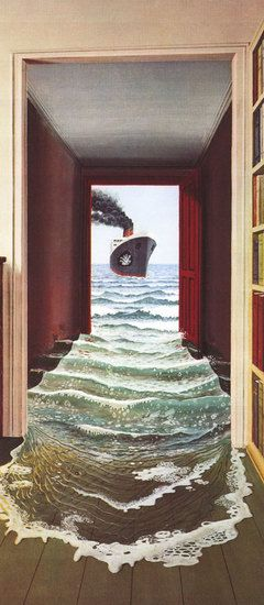 Le Secret Trompe l'oeil Door Mural