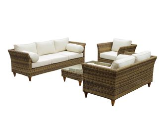 UPSTAIRS VERANDAH: Carolina 3+2+1 with coffee table.  I think this would look better as  2 x 3 seaters with coffee table. $2099